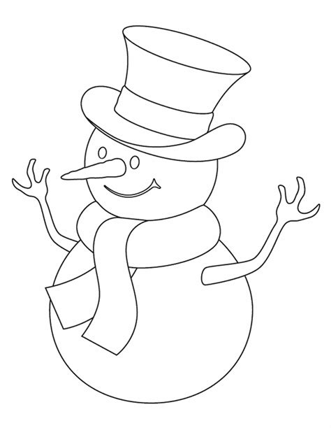 Template For Snowman Hat New Calendar Template Site Printable Snowman Coloring Pages