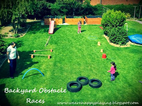how to make a backyard obstacle course we are happy playing diy backyard obstacle races without