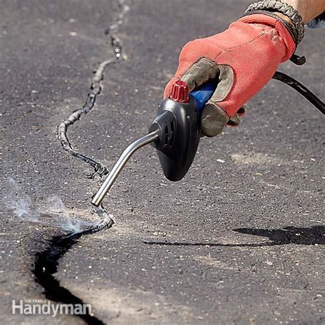 Asphalt Patching and Crack Repair   The Family Handyman