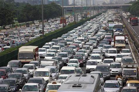 Traffic In Traffic Jam On Delhi Gurgaon Route As Protesting