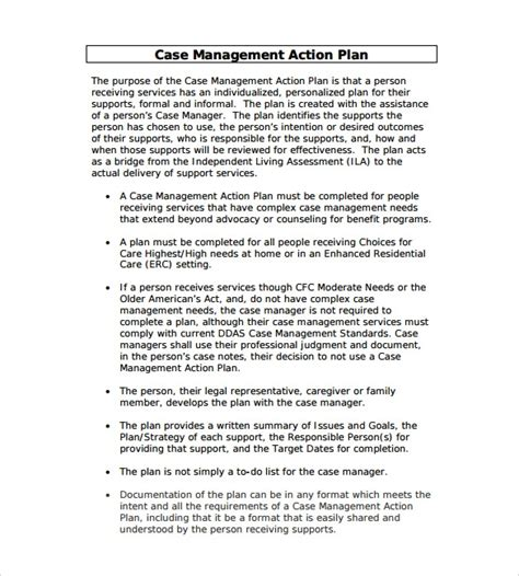 Management Action Plan Template 9 Download Documents In Pdf Word Sle Templates Plan Template For Managers