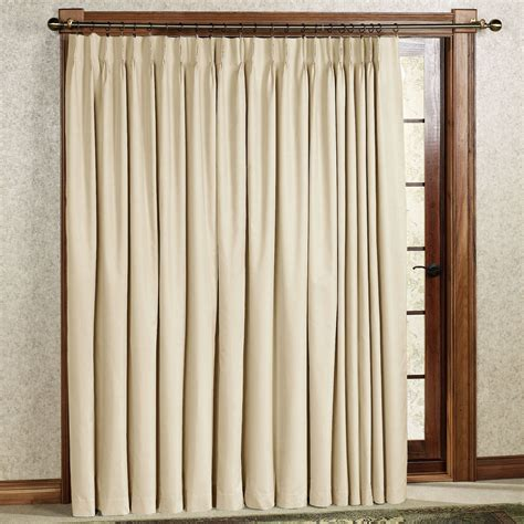 pleated curtain panels crosby pinch pleat thermal room darkening patio panel
