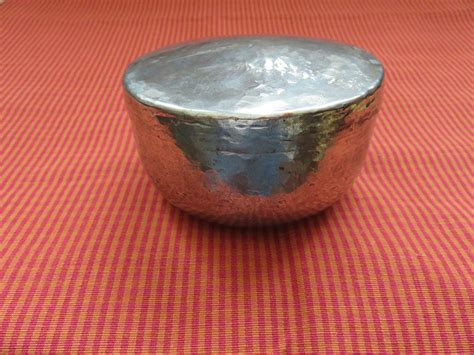 Handmade Copper Bowl - qajar handmade copper dervish bowl turkishfolkart