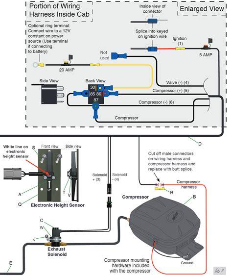 air bag compressor wiring diagram 33 wiring diagram