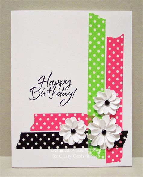 Simple Handmade Birthday Card Designs - 25 best ideas about cards on cards diy card