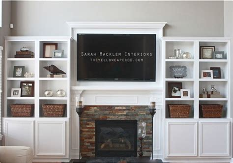 Fireplace Mantel With Shelves On Side by 9 Ways To Design Around A Tv Centsational