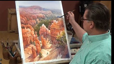 watercolor painting with roland painting bryce on vimeo