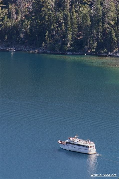 boat tour emerald bay lake tahoe california tour boat heading out from