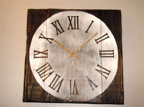 Handmade Wood Clocks - vintage handmade wooden rustic wall clock