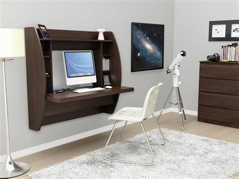 Prepac Floating Desk With Storage In White Office Desks Prepac Floating Desk White