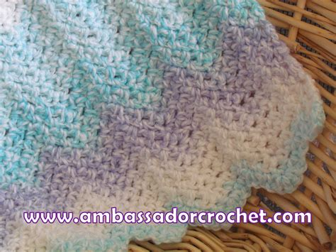 Free Crochet Patterns For Babies Blankets by Free Beginner Crochet Baby Blanket Patterns My Crochet
