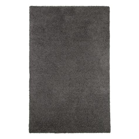 Outdoor Rug Home Depot Lavish Home Shag Charcoal 5 Ft X 7 Ft 7 In Indoor Outdoor Area Rug 62 1 C 577 The Home Depot
