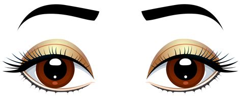 clip eye brown clipart eye wink pencil and in color brown
