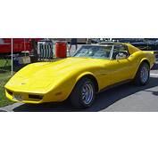 1974 Chevrolet Corvette  Yellow Side Angle