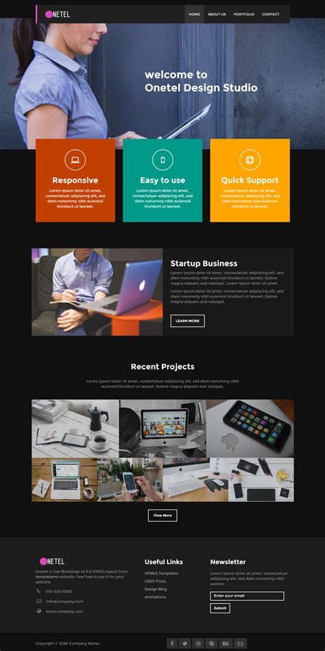 bootstrap v3 themes template 468 onetel