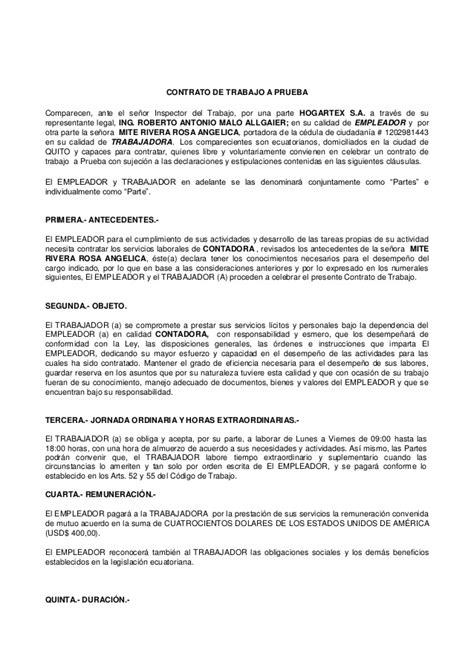 contratos de trabajo bonificados 2016 contrato a prueba