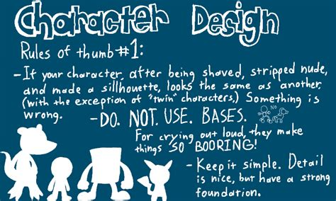 design tips character design tips 1 by crazyriverotter on deviantart