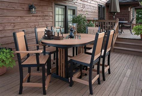 Outdoor Patio Tables And Chairs Amish Recycled Poly Lawn And Patio Furniture Green Living Outdoor Adirondack Chairs Made From