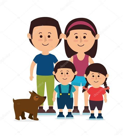 imagenes sobre la familia animada familia dibujos animados coloridos vector de stock