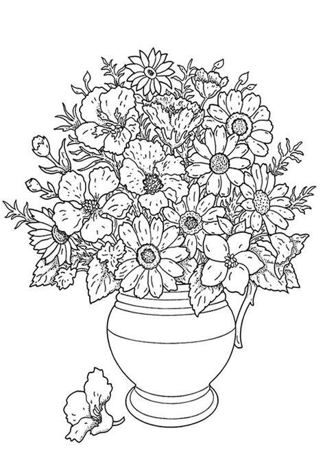 mazzo di fiori da colorare disegno da colorare mazzo di fiori cat 19137