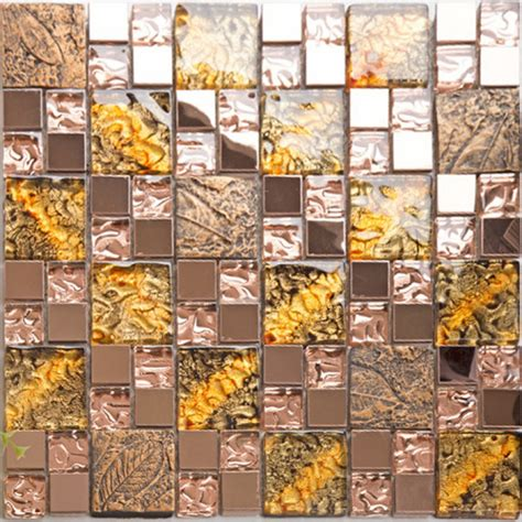 stainless steel and glass tile backsplash glass and metal backsplash tiles for kitchen and bathroom