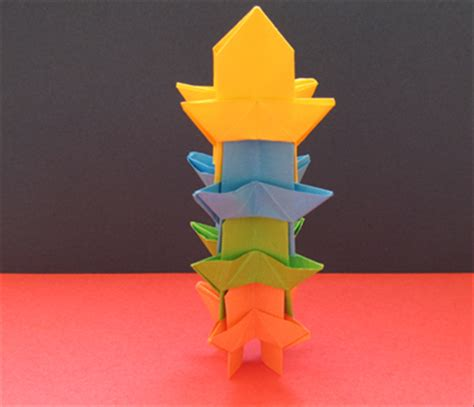 How To Make A Tower With One Of Paper - how to make an origami tower children s origami