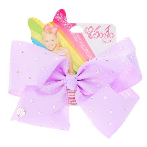 jojo siwa s jojo siwa large rhinestone purple signature hair bow s i bows