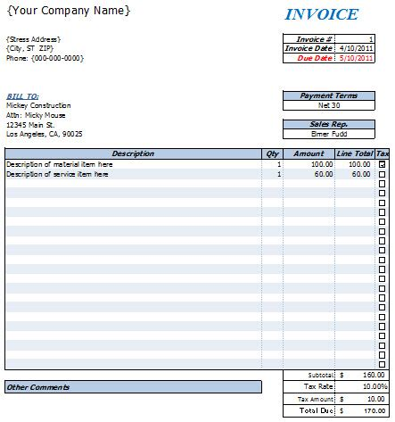 excel receipt template mac excel invoice template for mac free invoice template