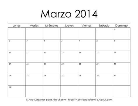 calendario de marzo de 2014 calendarios imprimibles gratis calendario enero 2014 para