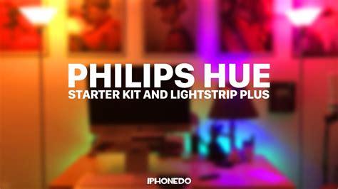 philips hue lightstrip plus review philips hue starter kit lightstrip plus youtube