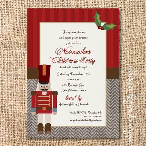 printable nutcracker invitations invite nutcrackers pinterest