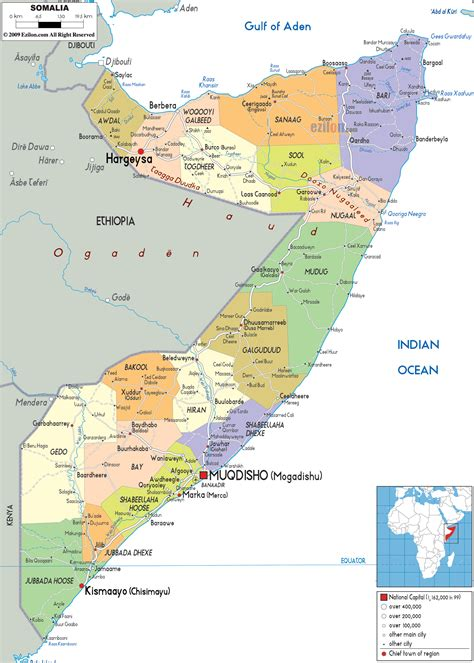 map of somalia somalia karte provinzen
