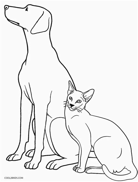 coloring pages with dogs and cats printable coloring pages for cool2bkids