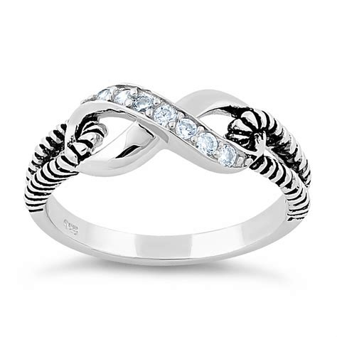 infinity rings sterling silver sterling silver infinity cz ring