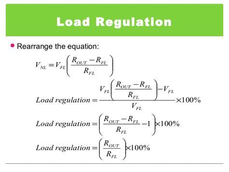 load resistor equation voltage regulator