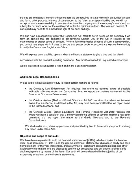 Finance Engagement Letter Sle Audit Engagement Letter Final2 Jan 2011