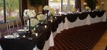 Cheap White Table Linens Black Amp White Head Table My Tucson Wedding