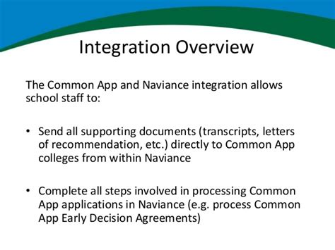 Letter Of Recommendation Naviance naviance and the common application partnering for