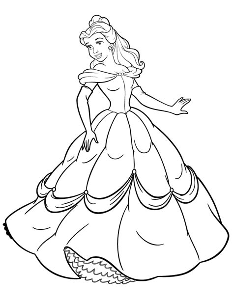 printable coloring pages belle disney princess coloring book pages coloring home