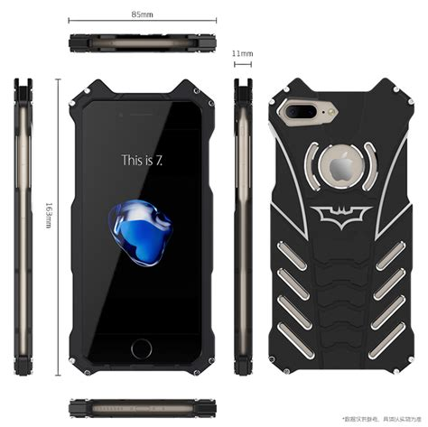 batman shockproof aluminum shell metal case  custom stent  armor king case