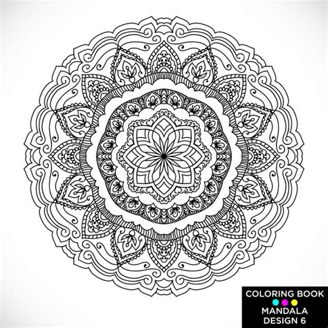 beautiful mandala coloring pages color therapy vectors photos and psd files free download