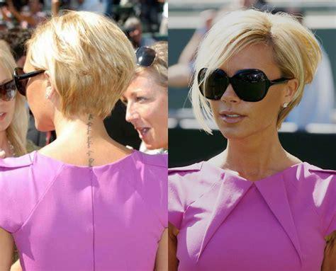 Victoria Beckham Stacked Bob Hairstyle