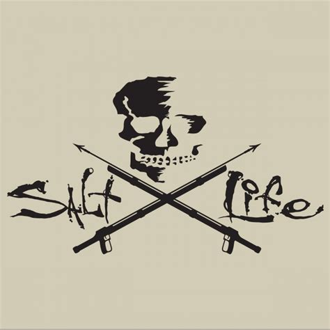 salt life decal salt life signature skull and spearguns decal sticker