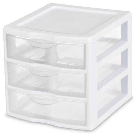 Small Sterilite Drawers by Sterilite Small 3 Drawer Unit White Walmart