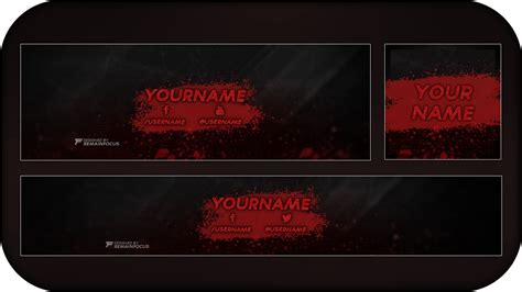 header template psd sick blood splatter banner header