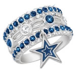 dallas wedding band dallas cowboys stackable ring set the danbury mint