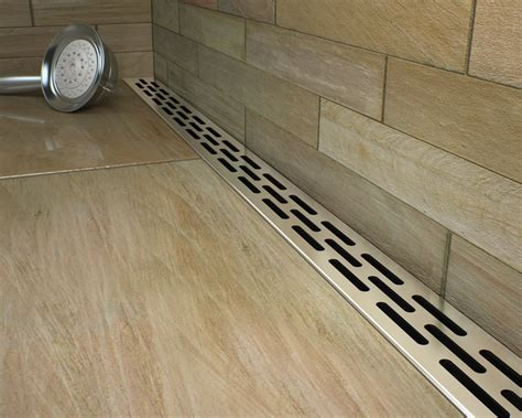 Draining Shower by Noble Freestyle Linear Drains Tiletools