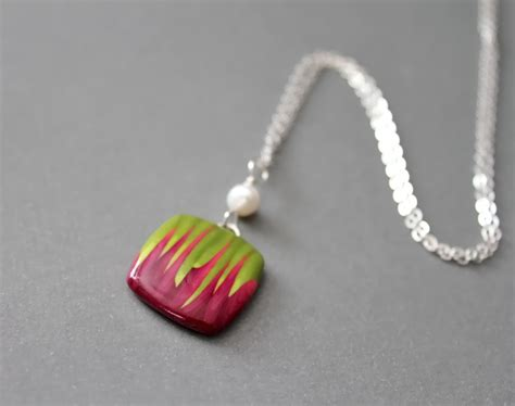 jewelry makes polymer clay pendant necklace jewelry journal