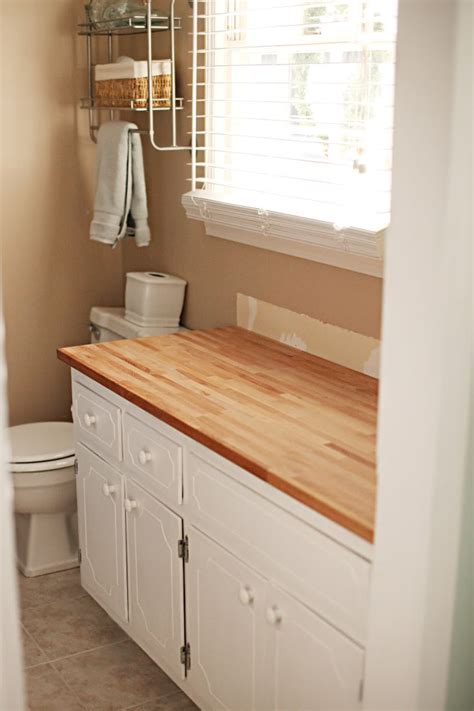 butcher block bathroom countertop hot mess makeover ikea butcher block butcher blocks and