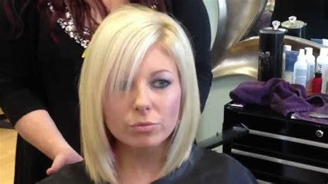 Blonde layered bob haircut   YouTube